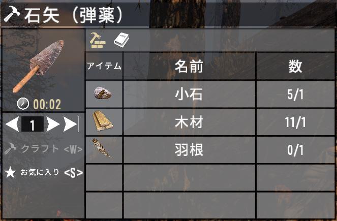 石矢の必要素材